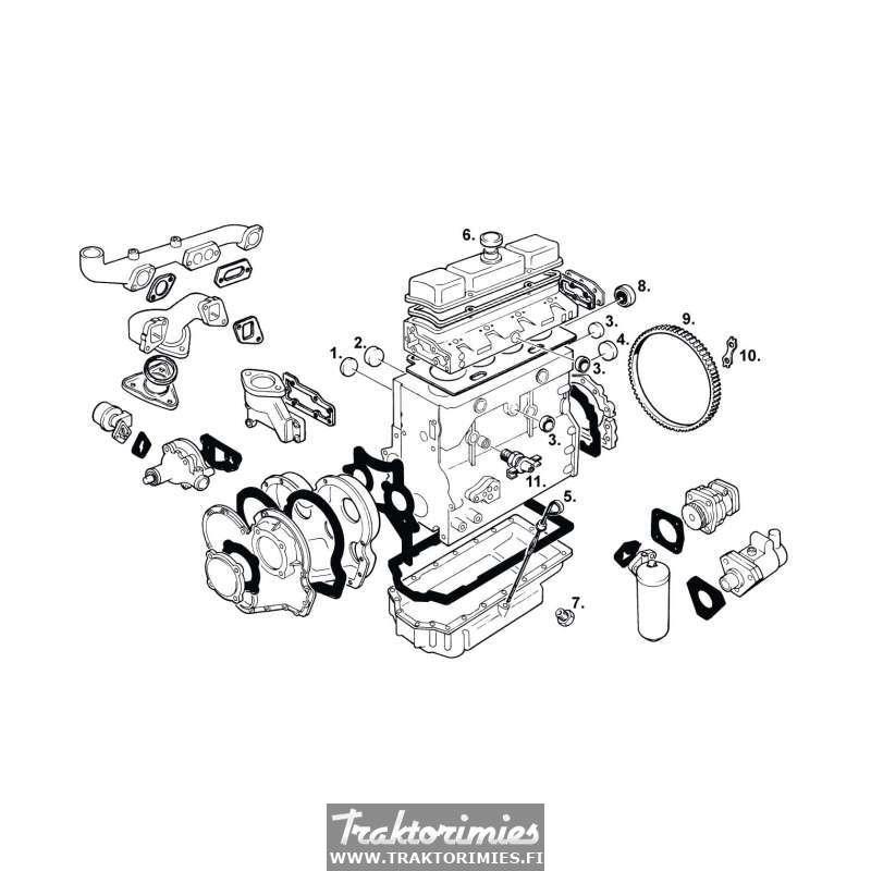 moottorin osat - massey ferguson 65